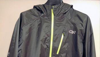 軽量コンパクトな雨具  OR(アウトドアリサーチ)ヘリウムIIジャケット