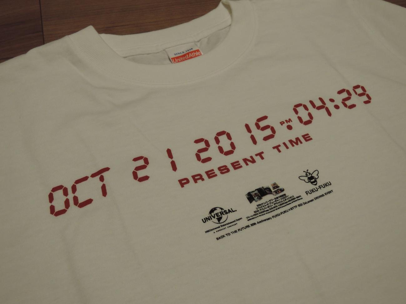 バック・トゥ・ザフューチャー記念Tシャツ