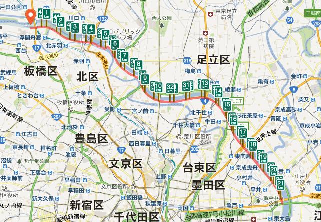 板橋シティマラソン コース